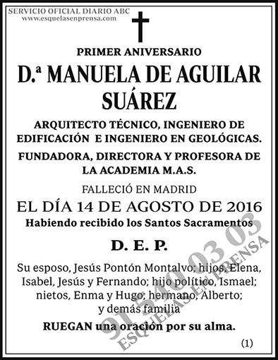 Manuela de Aguilar Suárez